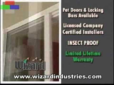 Self closing screen door doovi for Wizard retractable screen door