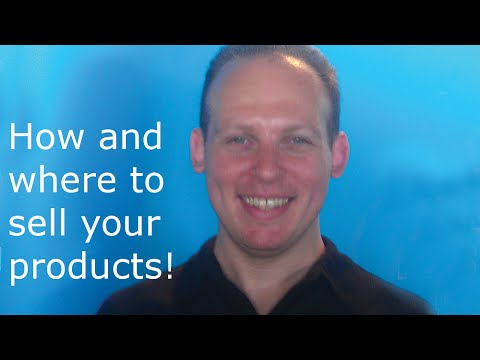 How to sell a product online on Amazon, eBay and your website using SEO & offline in stores