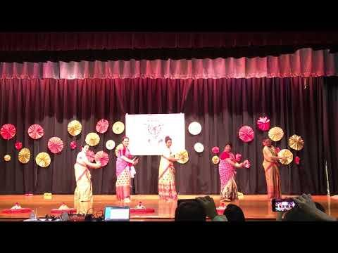 NJ Rongali Bihu 2018 Group Bihu Dance