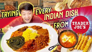 Trying EVERY INDIAN DISH From Trader Joe's & BEST KOREAN SHORT RIBS!
