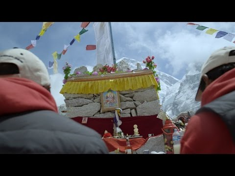 Sherpas Pray for Permission to Climb Everest