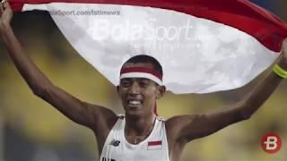 Pelari Indonesia Agus Prayogo Raih Emas di Nomor Lari Jarak Jauh 10 ribu meter