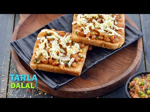 Beans on Toast, Baked Beans & Cheese on Toast by Tarla Dalal