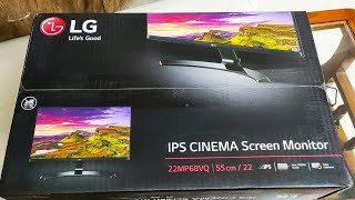lG 22MP68VQ 22 Inch Full HD Monitor Unboxing & Review