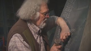 unintentional asmr 🔨 welsh stone carver tapping gently sharing wisdom
