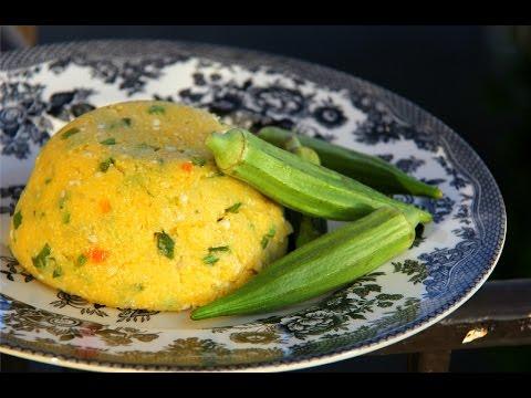 Corn Cou Cou (Vegetarian + Gluten Free) #TastyTuesdays | CaribbeanPot.com