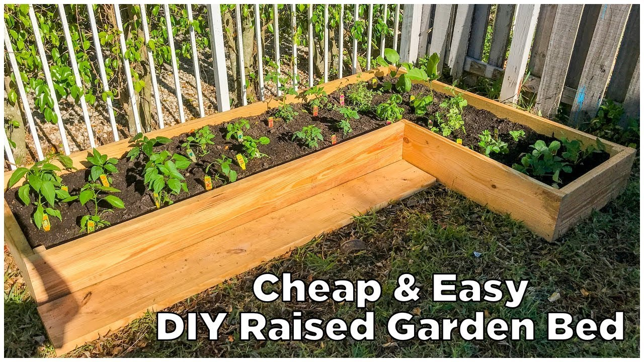 Super Easy Amp Cheap Diy Raised Garden Bed Youtube