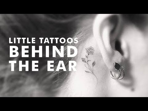 Little Tattoos Behind The Ear