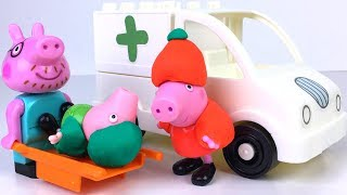 STORY WITH PEPPA PIG SKIING  GEORGE'S ACCIDENT AND PAPA PIG IS DIVING THE AMBULANCE TO HOSPITAL thumbnail