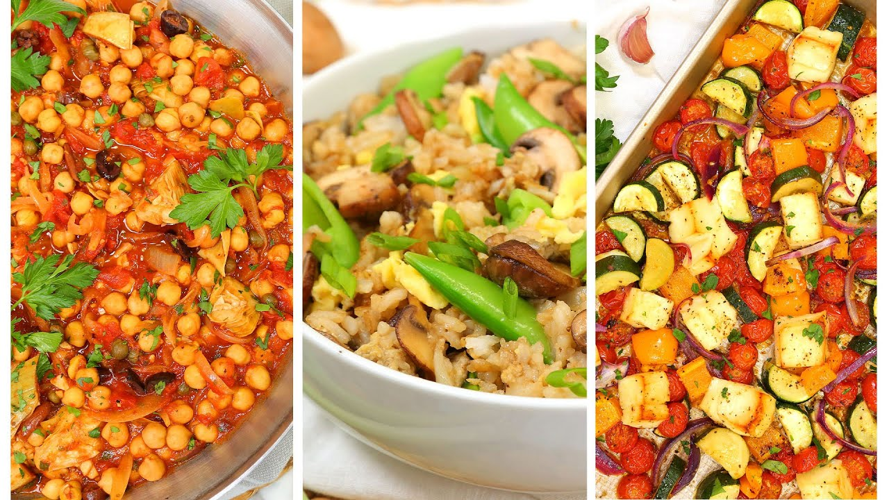 3 Healthy Vegetarian Dinner Recipes | Healthy Meal Plans 2020