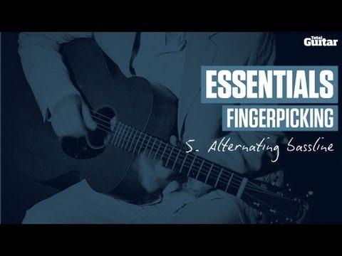 essentials lesson: fingerpicking -- example 5 -- alternating bassline