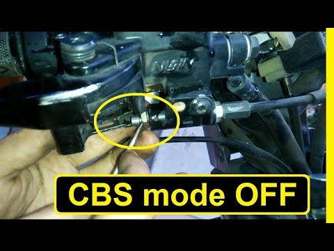 Cara Menonaktifkan Rem CBS