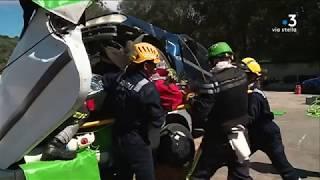 Corse-du-Sud:les pompiers à l'entraînement avant le championnat dedésincarcérationen Espagne