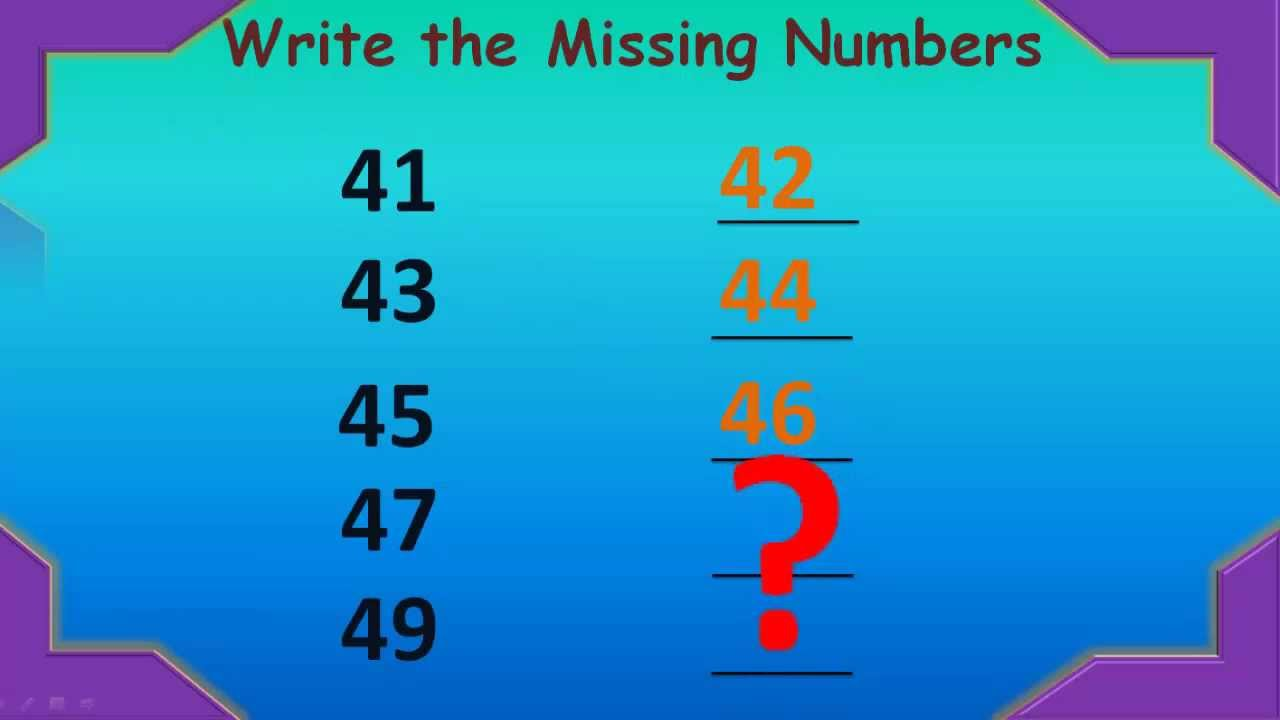 Kids Numbers Learning - Write Missing Numbers (41 - 50 Numbers ...