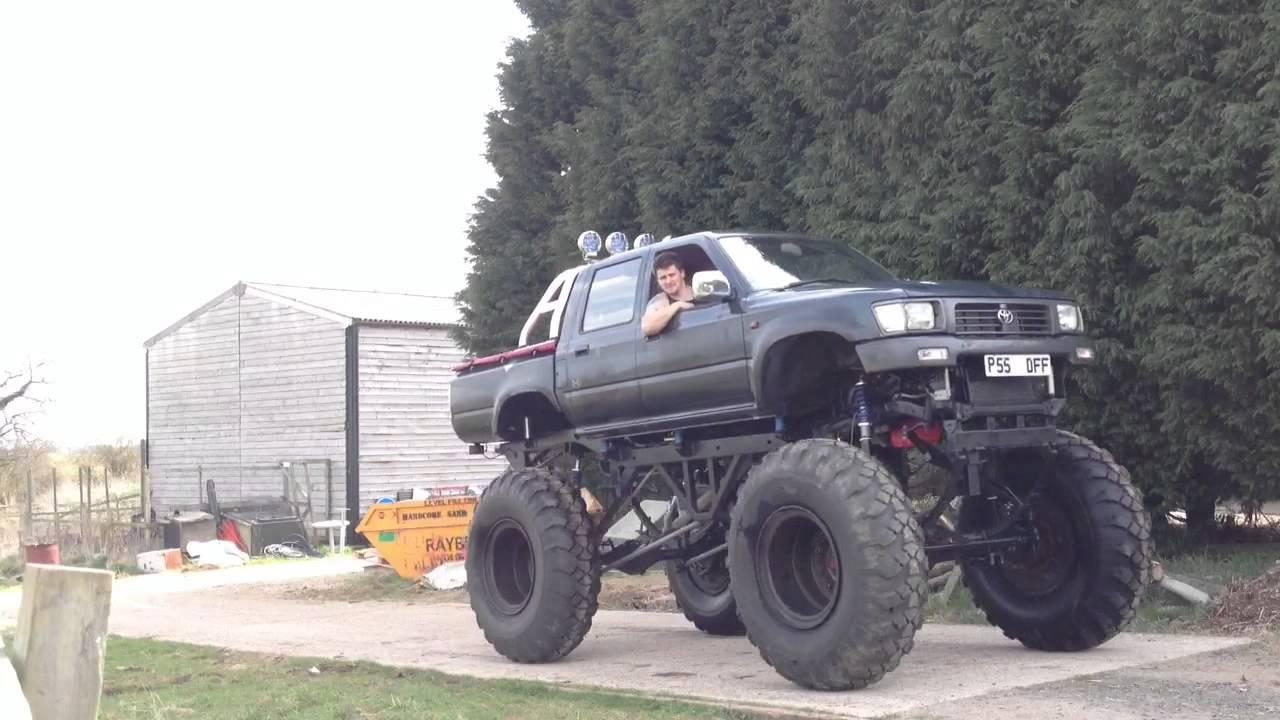 Monster truck v8 street legal toyota hilux - YouTube