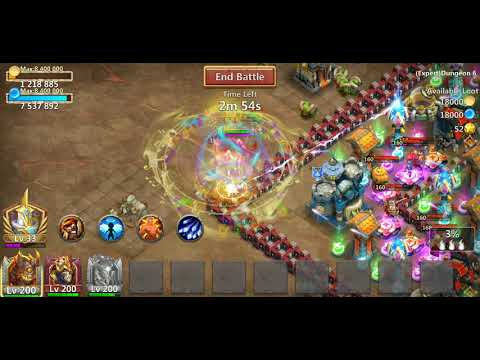 Castle Clash 8/9 Revitalize And 7/8 Iron Will Storm Eater Gameplay