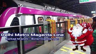 Inaugural day of Delhi Metro Magenta line || Kalkaji Mandir - Botanical Garden || India on Rails