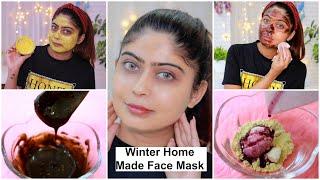 3 Winter HOMEMADE FACE-MASKS for DRY SKIN, DULL SKIN, ANTI - AGING