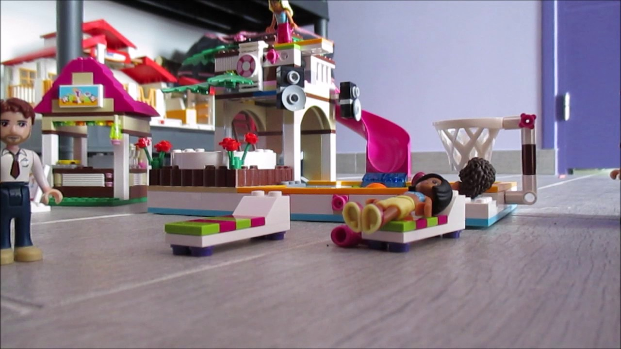 lego friends la piscine youtube. Black Bedroom Furniture Sets. Home Design Ideas
