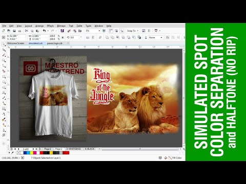 Simulated Spot Color Separation and Halftoning (No Rip Software) Part 1 of 2