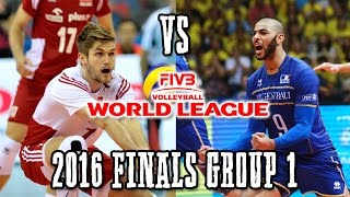Poland Vs  France  World League Thriller 2016  Finals Group 1 Full Match Breaks