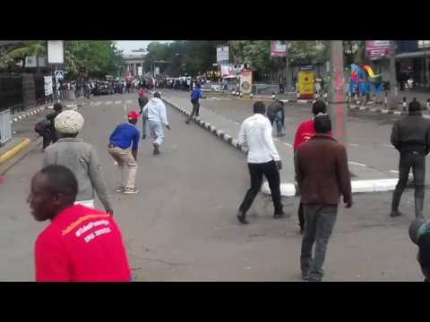 Jubilee and NASA youth clashed in Nairobi City centre