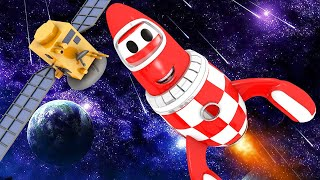 Tom the Tow Truck's Car Wash -  Rocky the ROCKET Gets Covered With FUEL - Car City ! Trucks Cartoons