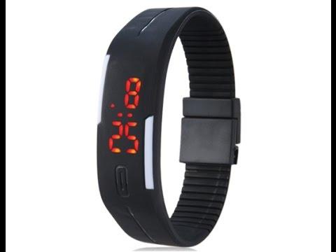 c7e8ceb4ec1 Relógio LED Sport de Silicone Touch - YouTube