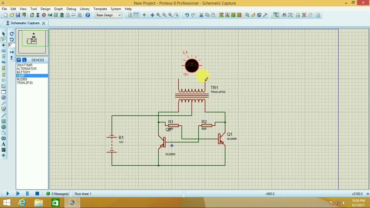 Simple inverter (proteus tutorial)  YouTube