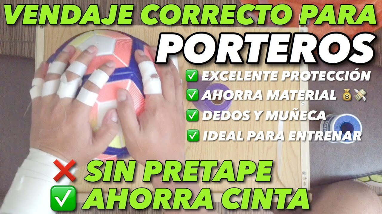 a382dcd3c91 VENDAJE PORTEROS |AHORRA MATERIAL SIN PERDER PROTECCIÓN| - YouTube
