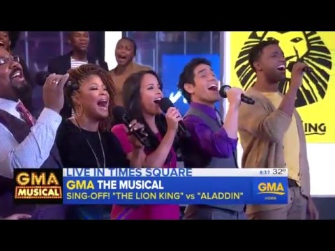 Full version of Lion King & Aladdin Broadway mashup on Good Morning America