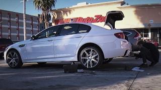 Разбираем BMW M5 на паркинге в США, сдача машины в лизинг, выводы(Разбираем BMW M5 F10 на парковке автомагазина в США. Новый видос, друзья! Просили больше лайва — получайте!..., 2017-02-07T15:27:42.000Z)