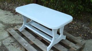 Painted Shabby Chic Coffee Table In Farrow And Ball