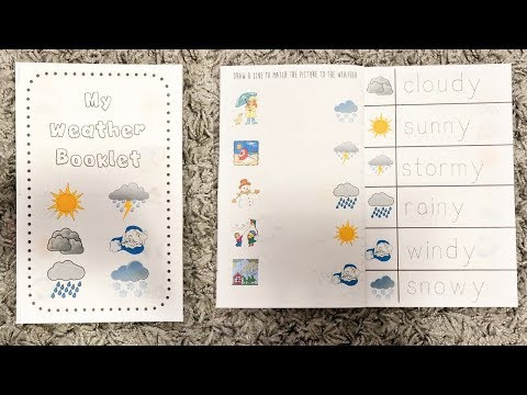 Weather Activity Booklet For Toddlers