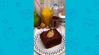 🍐😍 Chocolate Pear Cake! It's a perfect combination! #SHORTS