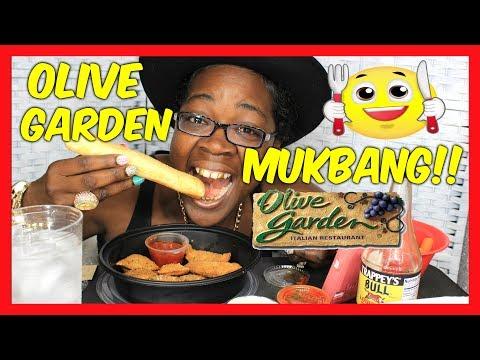 ''OLIVE GARDEN'' MUKBANG/ EATING FOOD/ FRIED RAVIOLI/APPETIZER