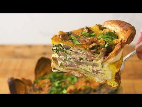 Bread Crust Quiche