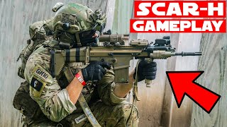 SCAR-H Airsoft Gameplay! (Recoil Shock)