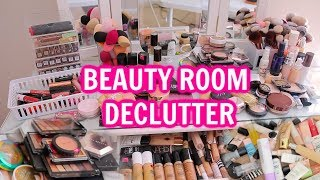MASSIVE BEAUTY ROOM DECLUTTER + WHAT I'M KEEPING / MY FAVORITES!