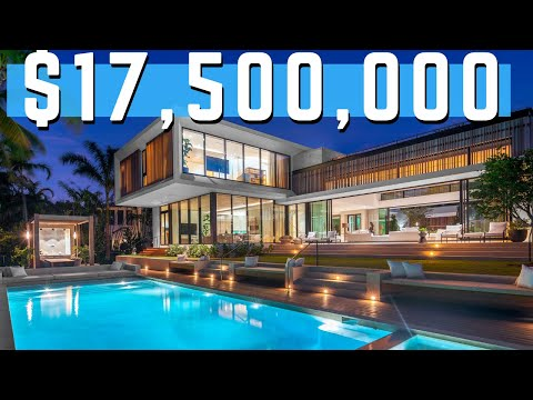 Find Out Why THIS Modern Miami Beach FL Mansion Is Worth $17.5 MILLION