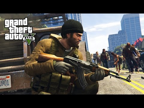 GTA 5 Zombie Apocalypse Mod #2 - SURVIVAL!! (GTA 5 Mods)