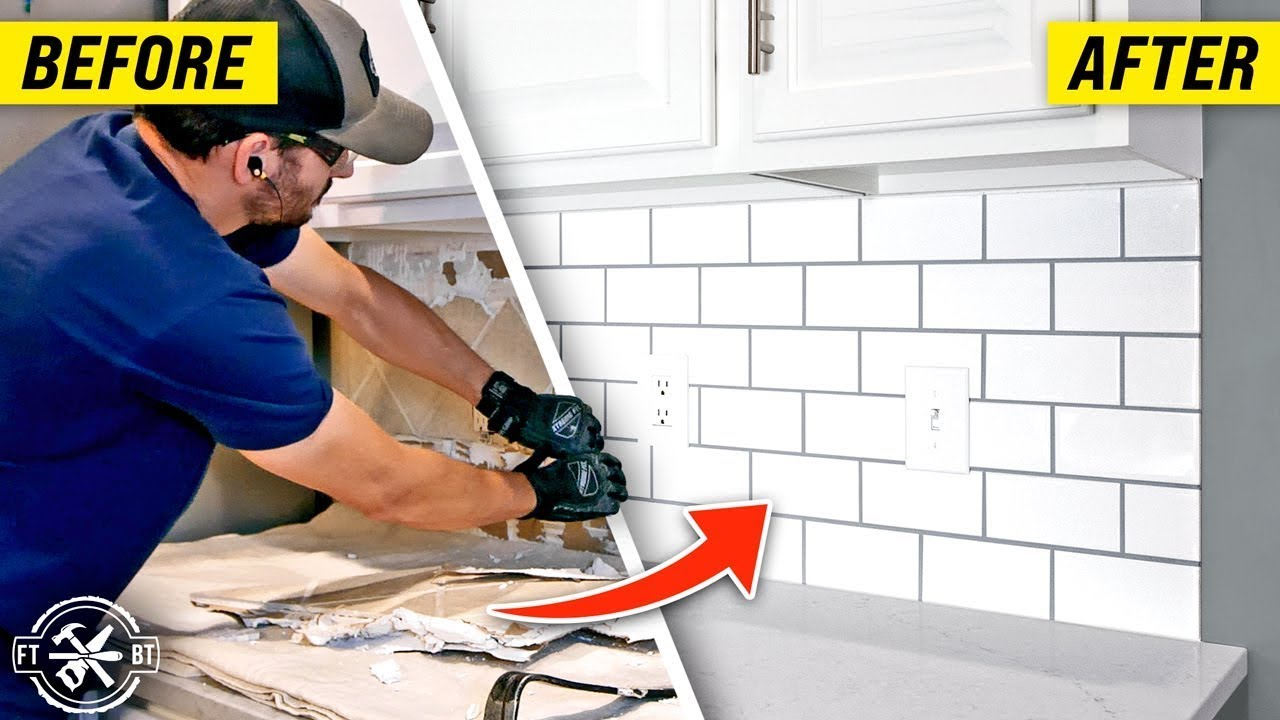 How to Install a Kitchen Backsplash with Subway Tile