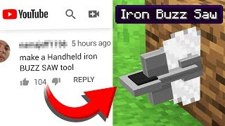 Turning COMMENTS into Minecraft CRAFTING RECIPES! #6