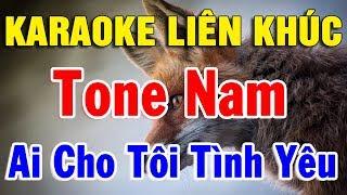 Liên Khúc Tone Nam Karaoke Nhạc Sống Bolero Hải Ngoại | karaoke Nhạc Vàng Trữ Tình 2020