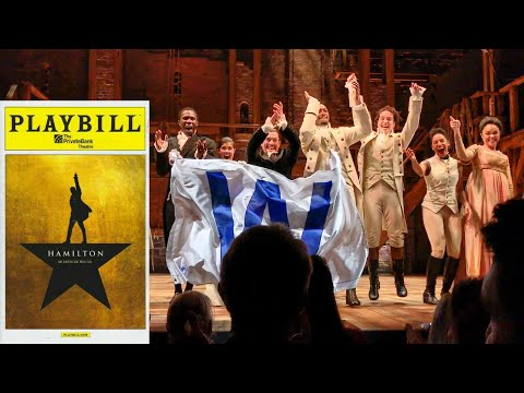 Chicago Hamilton Cast Performs Go Cubs Go During Curtain Call - 11/3/16