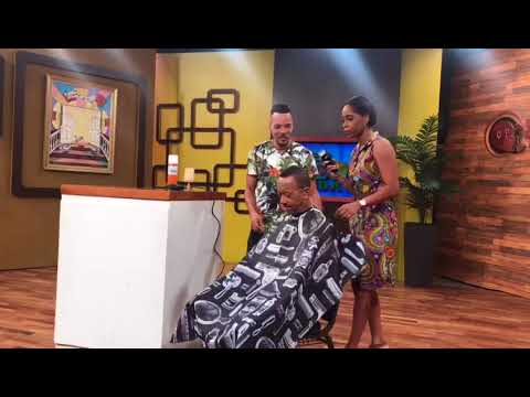 Neville Cuts Hair (TVJ Smile Jamaica) - July 13 2018