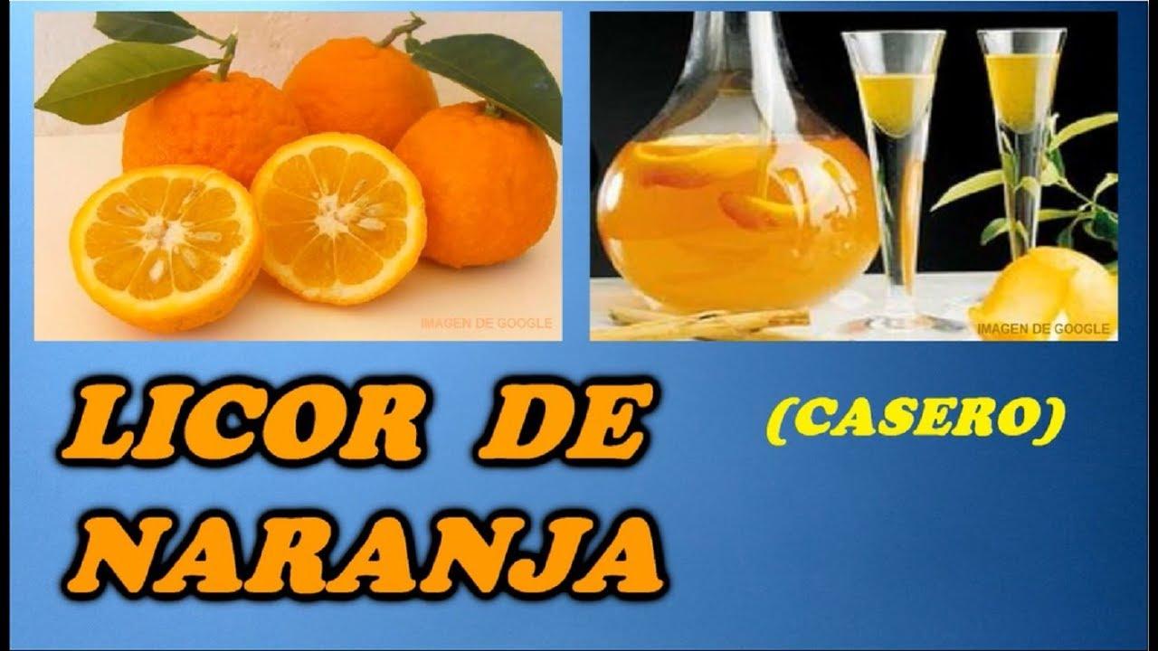 como hacer licor casero de mandarina