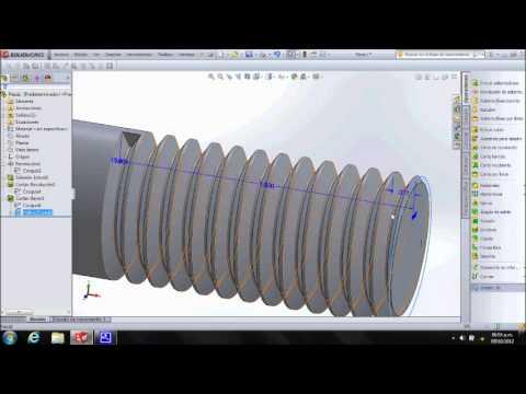 Tornillo De Cabeza Hexagonal En Solidworks Ecuaciones Y Tablas De Diseño