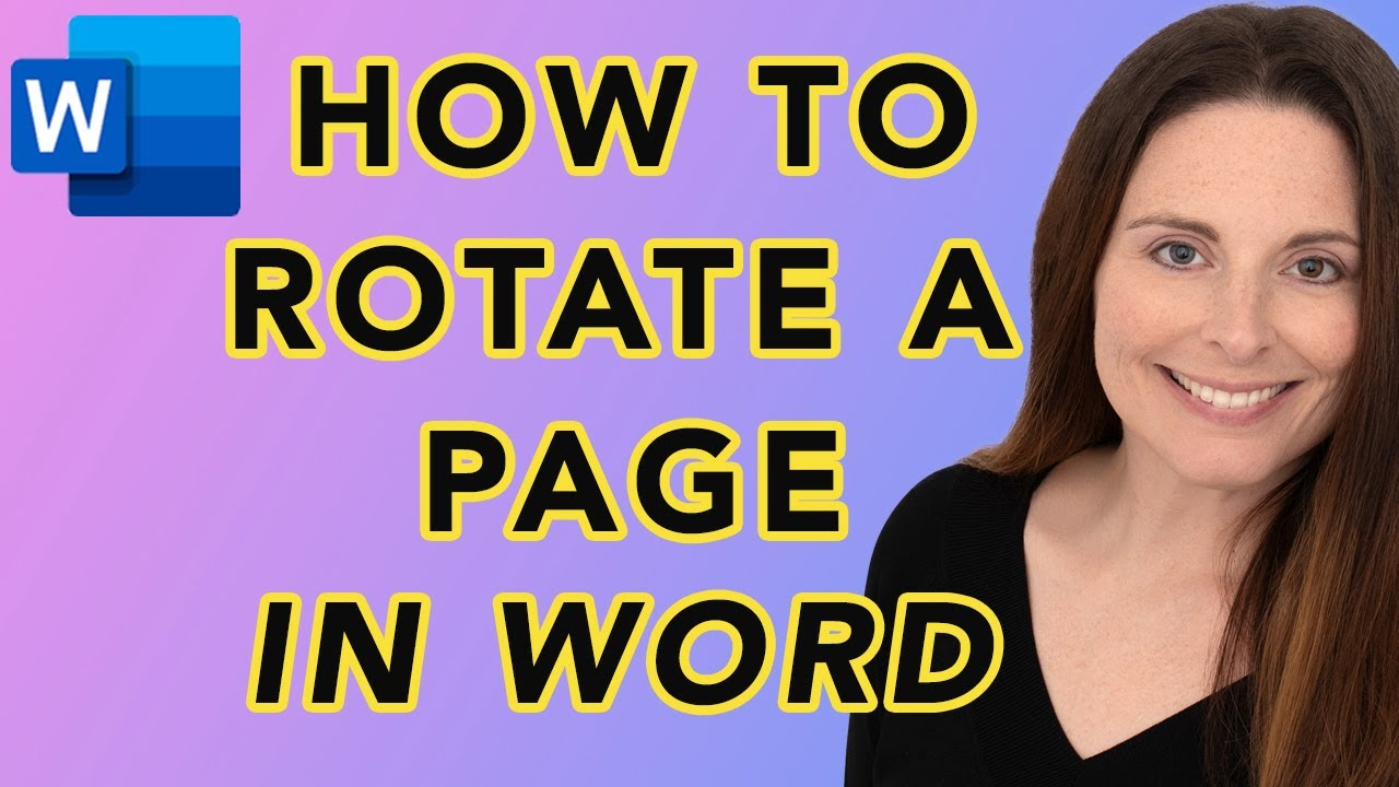 Download How To Rotate A Page In Word 90 Degrees - Turn Page Horizontal Landscape View