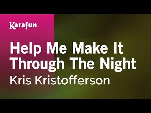 Karaoke Help Me Make It Through The Night - Kris Kristofferson *